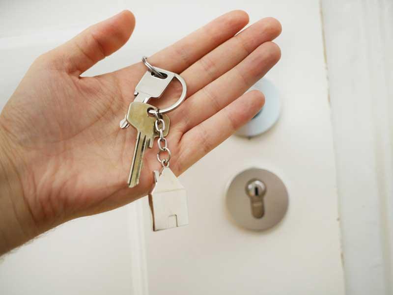 Nøgler i hånden