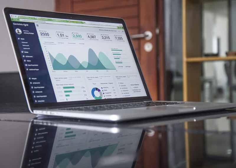 Laptop med data
